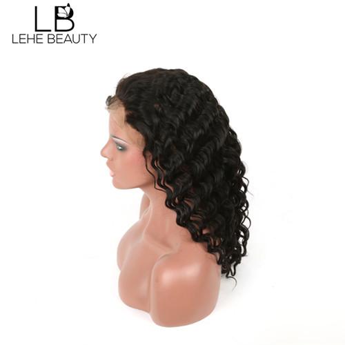 Human hair deep wave wig 16 inch