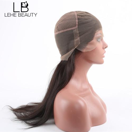 Human hair full lace wig cap