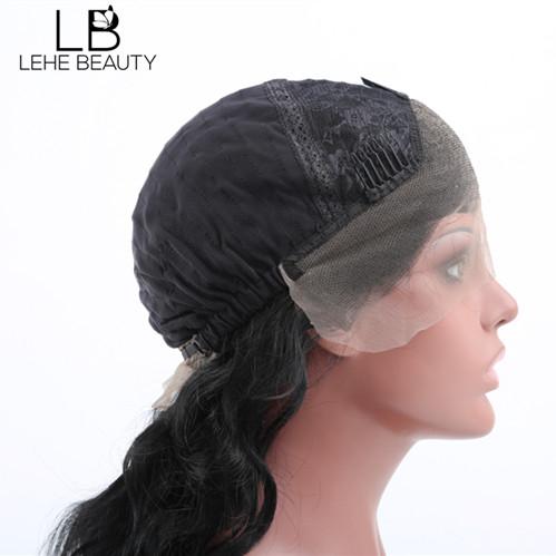 Human hair lace frontal wig cap