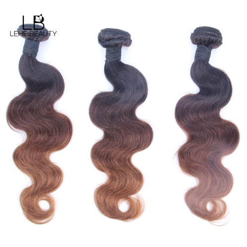 lehe beauty 3 tones human hair body wave bundles