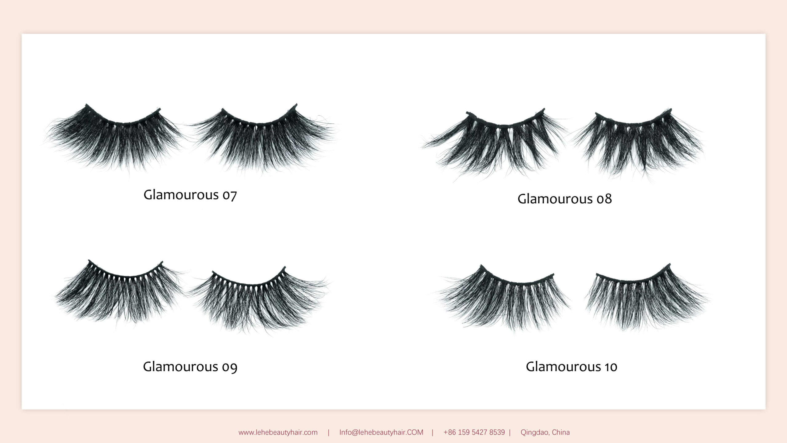 catalog 25mm mink lashes glamourous series 02