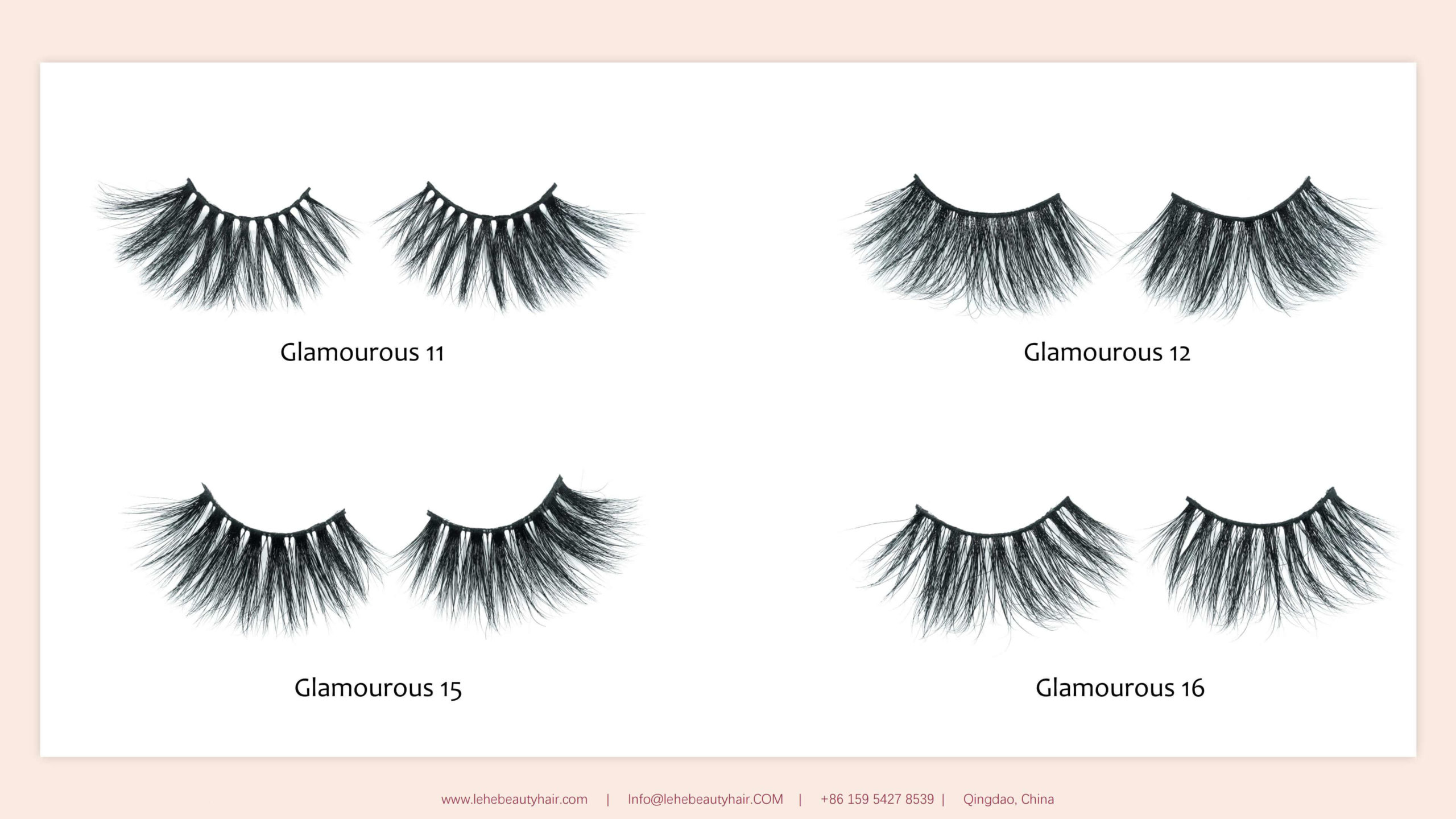 catalog 25mm mink lashes glamourous series 03