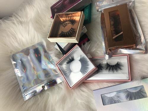 custommized lashes boxes
