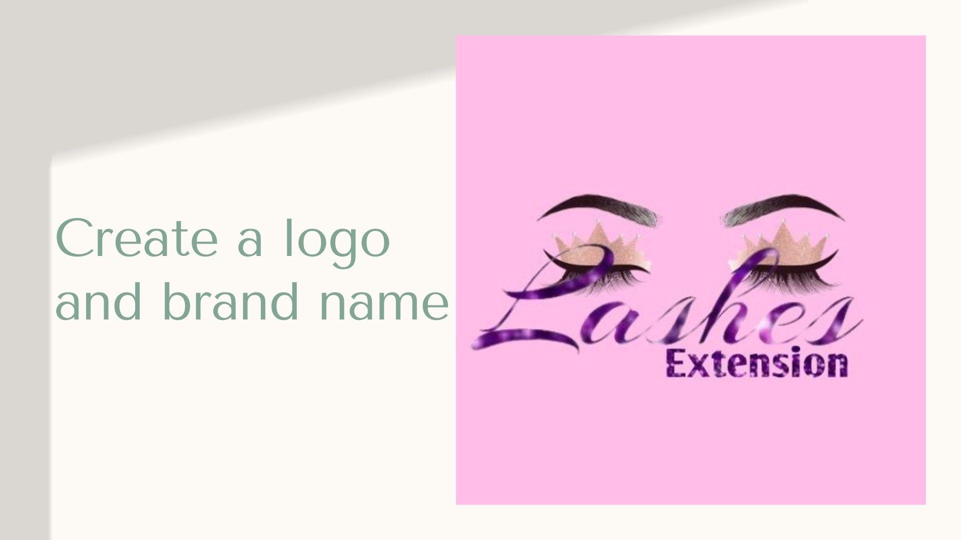 Create a logo and brand name
