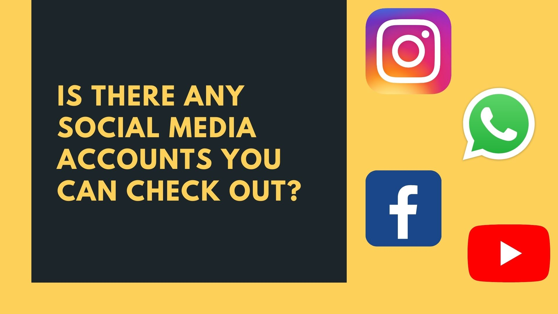 Is there any social media accounts you can check out