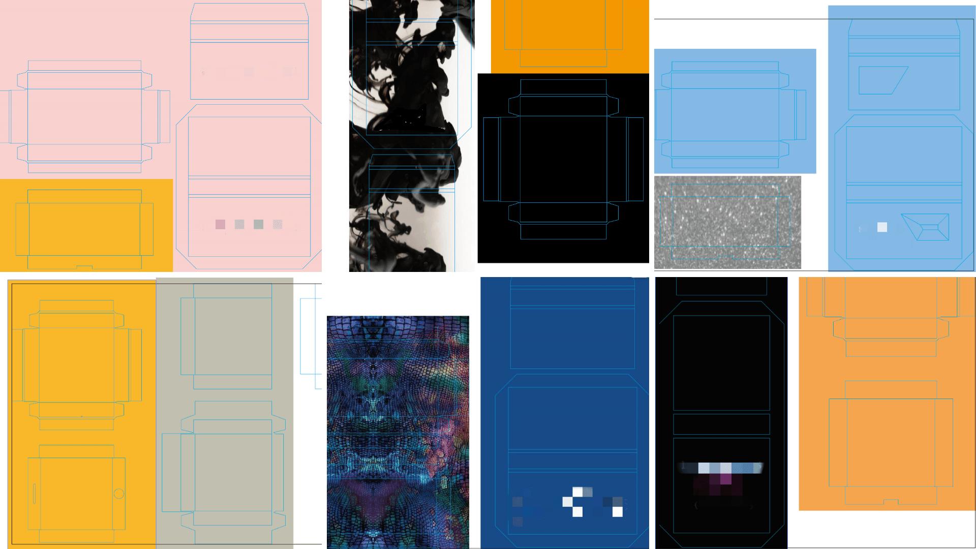 custom lashes box design draft
