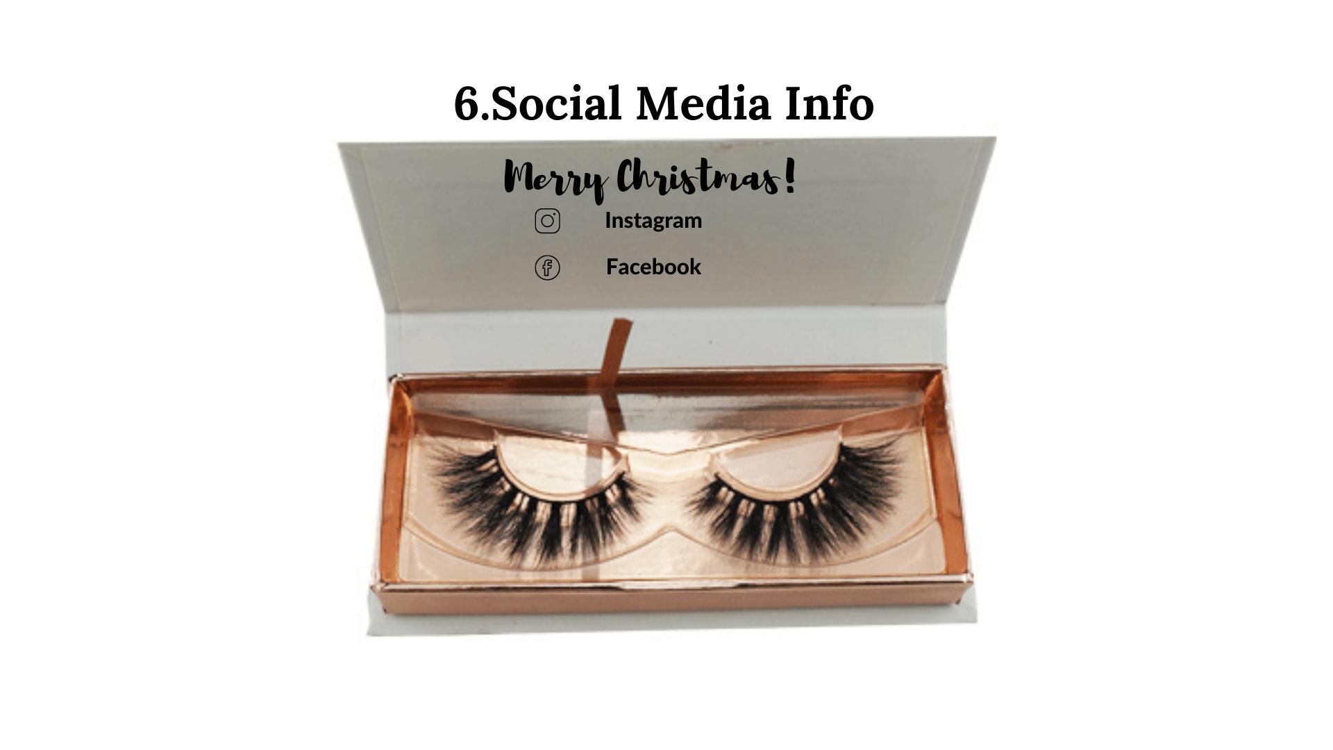 lashes social media info