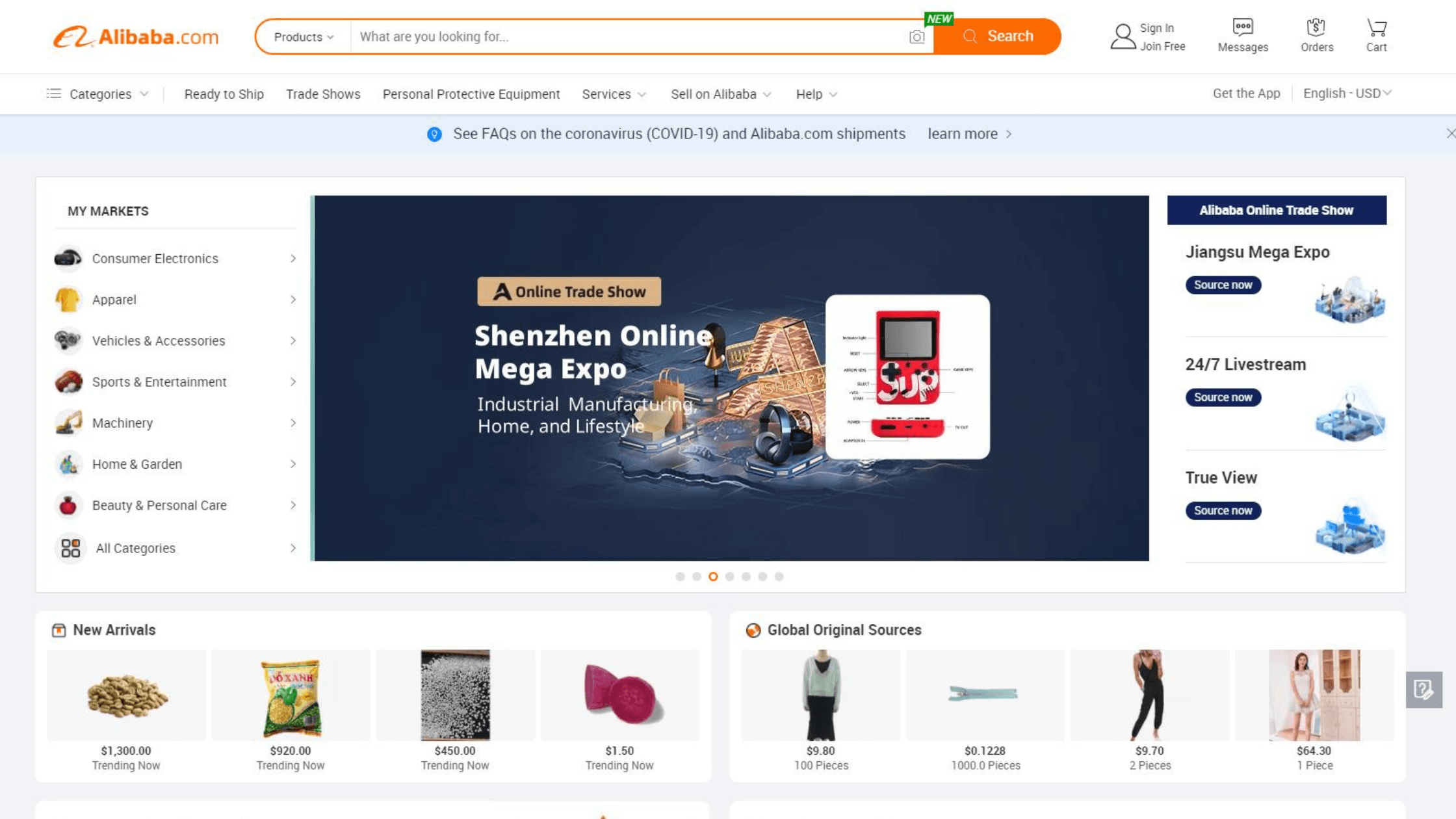 online channel alibaba.com