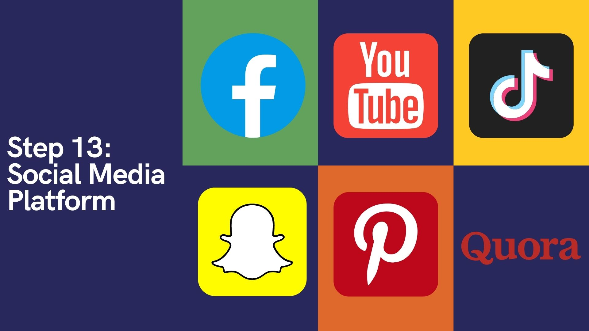 Step 13 Social Media Platform