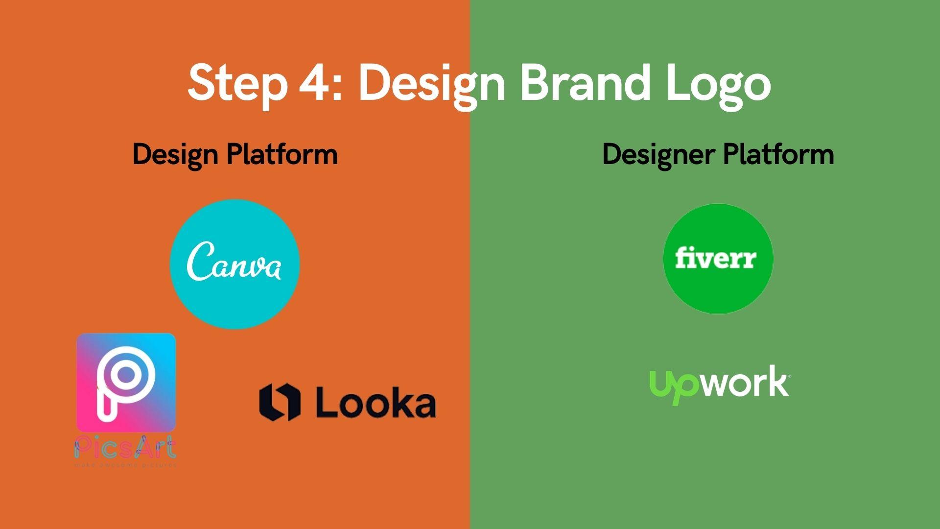 Step 4 Design Brand Logo
